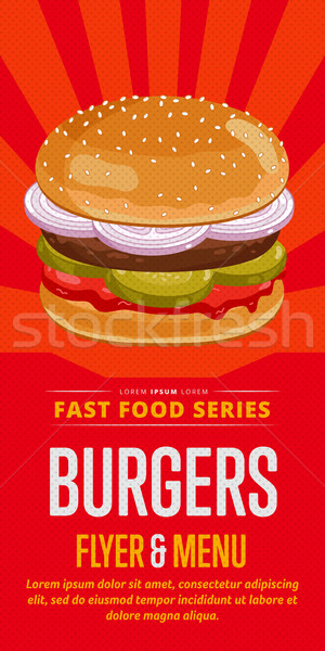 Burgers sale flyer. Stock photo © studioworkstock
