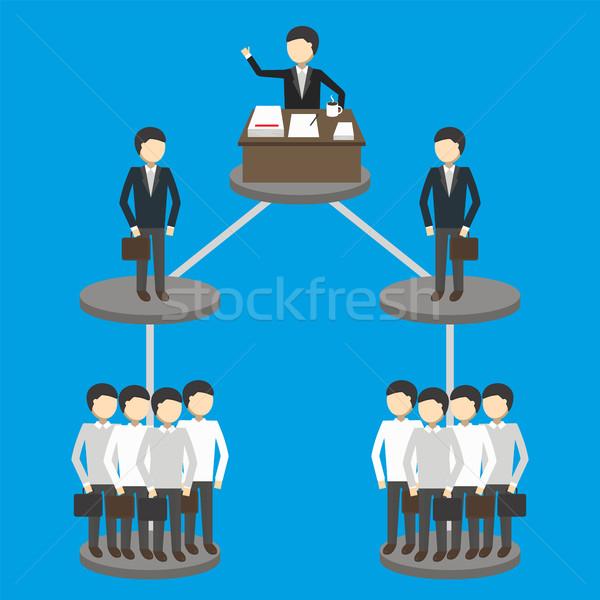 Działalności hierarchia zarządzania struktury papieru strony Zdjęcia stock © studioworkstock