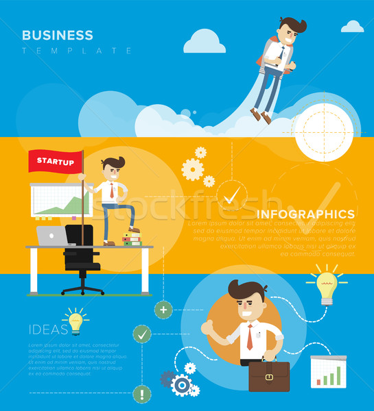 Business template infographic Stock photo © studioworkstock