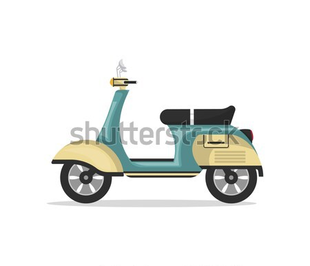 Vintage scooter isolated on white icon Stock photo © studioworkstock
