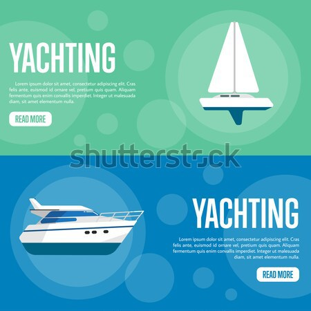 Fish business flyers with fishing trawlers Stock photo © studioworkstock