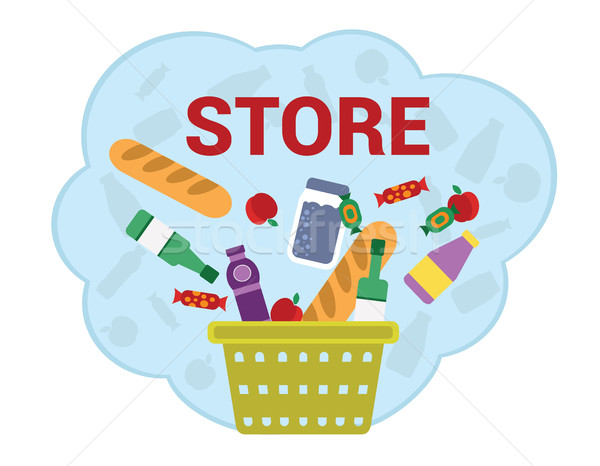 Purchase food products. Stock photo © studioworkstock