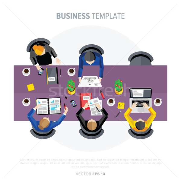 Business negotiations. View from above. Stock photo © studioworkstock