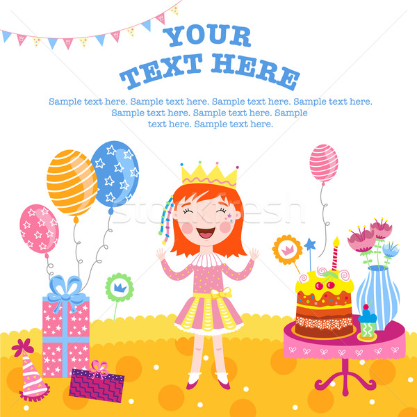 Girl happy birthday gifts. Stock photo © studioworkstock