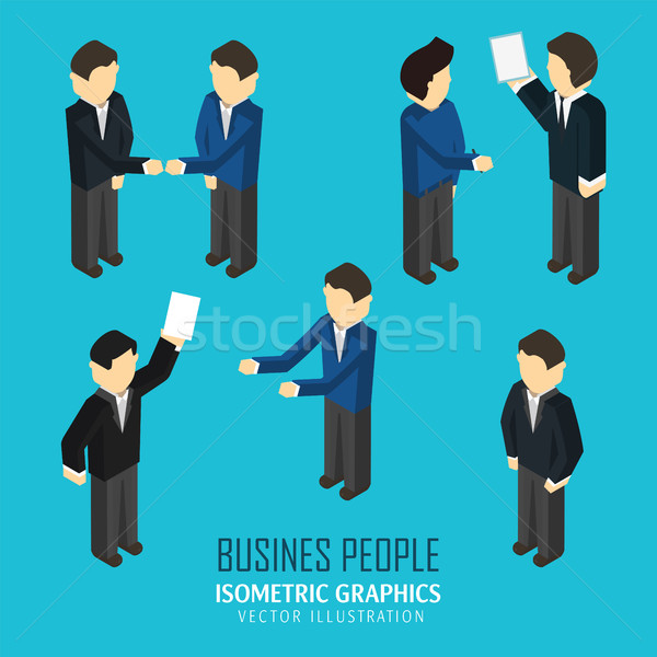 Business people in an isometric view. Stock photo © studioworkstock