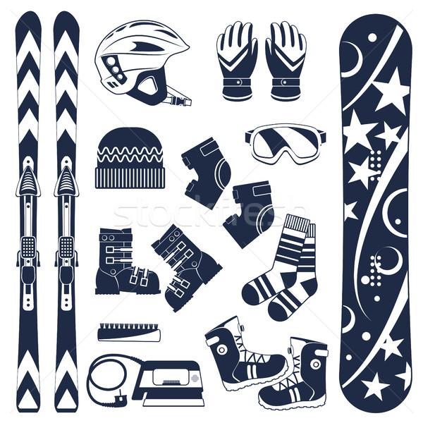 Skiing. Extreme winter sports. Stock photo © studioworkstock