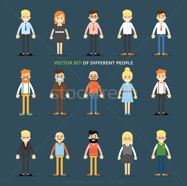 Stock photo: Set of vector people