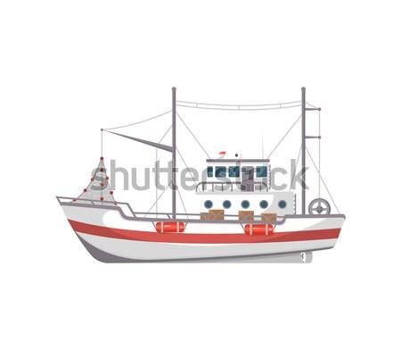 рыбалки компания лодках коммерческих промышленных Сток-фото © studioworkstock