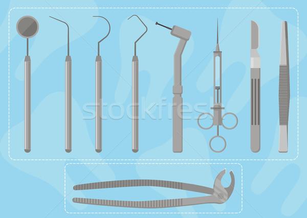 Medical instruments dentist Stock photo © studioworkstock