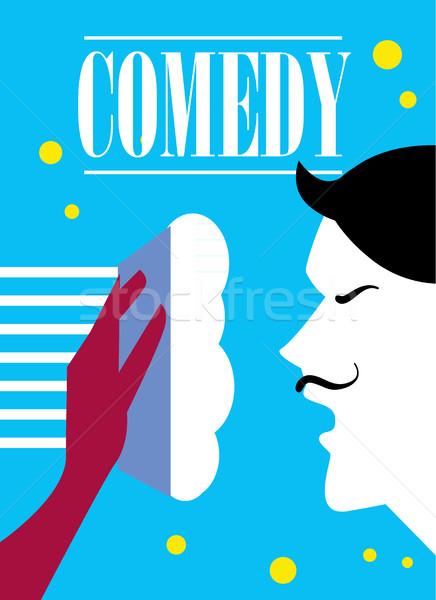 Comédie cinéma affiche résumé film imprimer Photo stock © studioworkstock