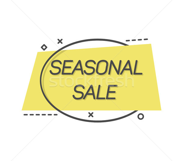 Stock photo: Minimalist falt label promoting seasonal sale