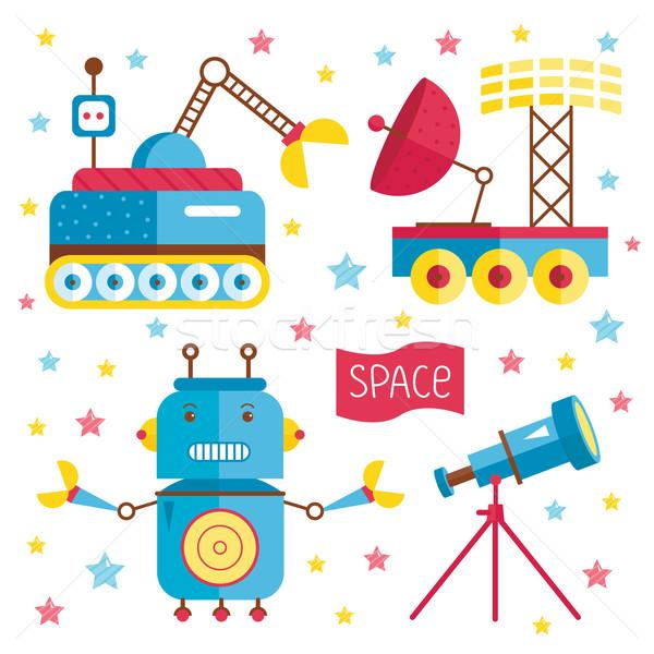 Cartoon illustrazione spazio set oggetto bene Foto d'archivio © studioworkstock
