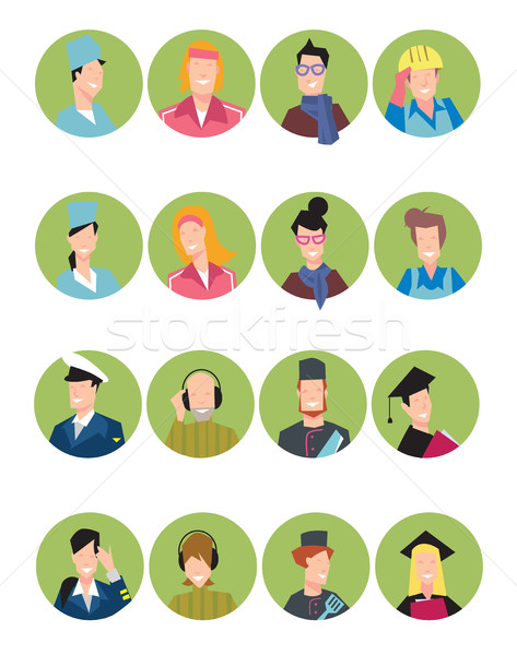 Set of avatars people Stock photo © studioworkstock