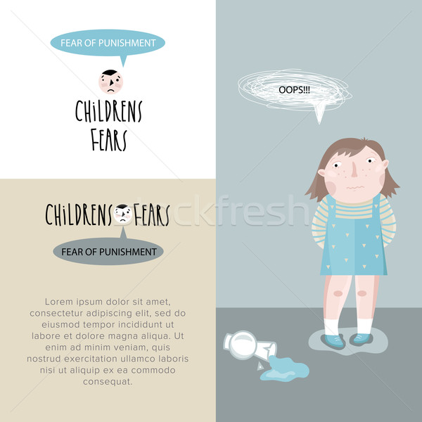 Children's fears. Vector illustration. Stock photo © studioworkstock