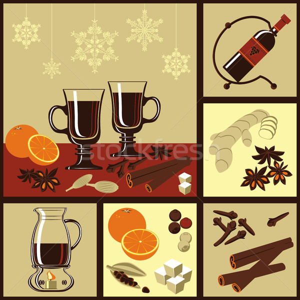 Ingredients for mulled wine. Stock photo © studioworkstock