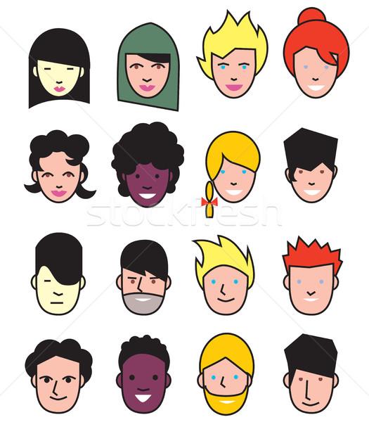 Vector avatar icons set Stock photo © studioworkstock