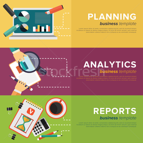Business Process Management. Vector. Stock photo © studioworkstock