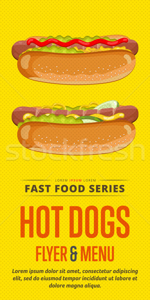 Hot dog sale flyer. Stock photo © studioworkstock