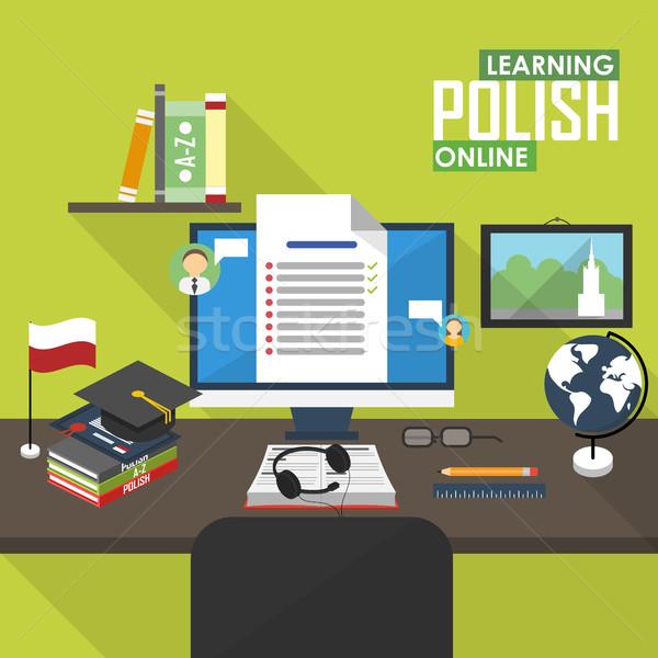 Linguagem projeto aprendizagem on-line distância Foto stock © studioworkstock