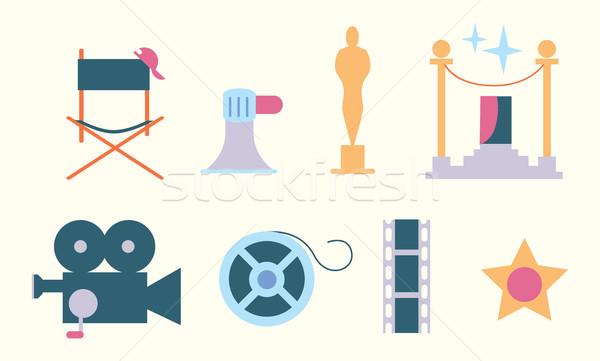 Cinema vector icon Stock photo © studioworkstock