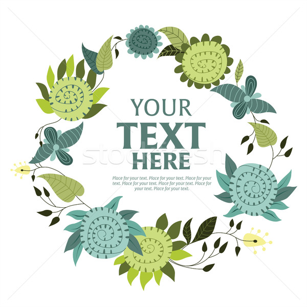 Floral wreath with space for text. Stock photo © studioworkstock