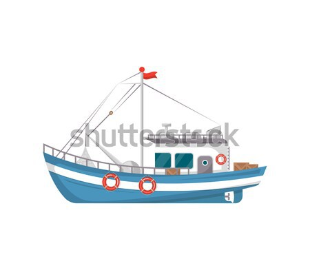 Fishing company flyers with small fishing boats Stock photo © studioworkstock