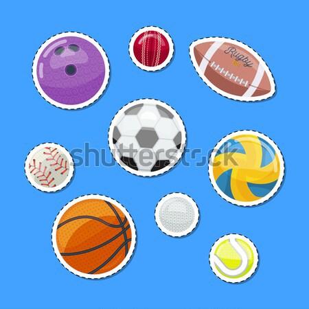 Set of various sportive balls Stock photo © studioworkstock