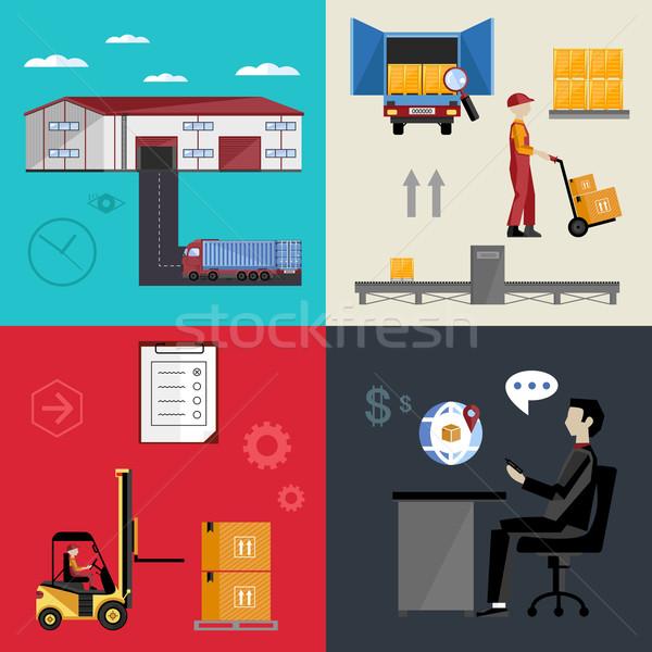 Warehousing and logistics processes. Stock photo © studioworkstock