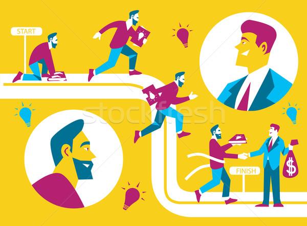 Business idea concept Stock photo © studioworkstock