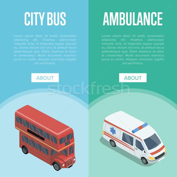 город транспорт логистика изометрический вертикальный Сток-фото © studioworkstock