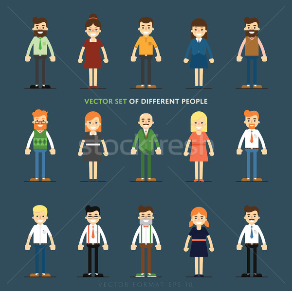 Set of vector people Stock photo © studioworkstock