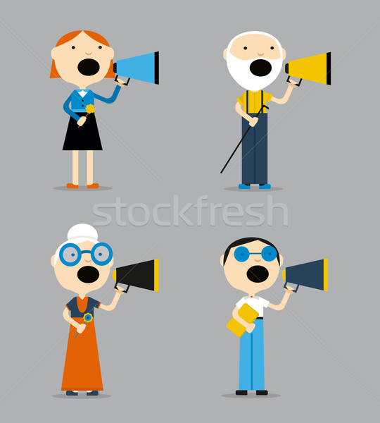 People are talking into a megaphone. Stock photo © studioworkstock