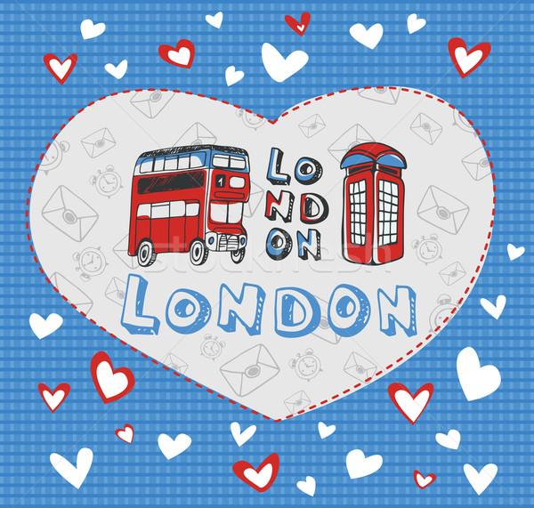 Postcard on the theme of London. Stock photo © studioworkstock