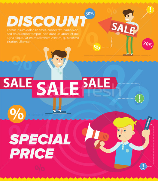 Discount sale vector banners Stock photo © studioworkstock