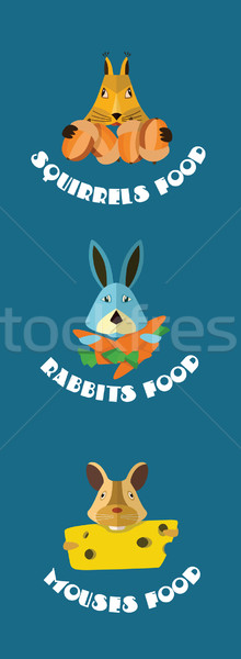 Rodents animals icons. Vector format. Stock photo © studioworkstock