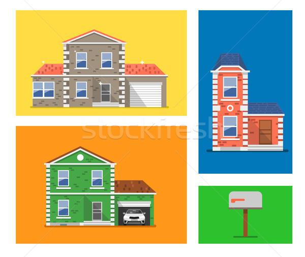 House colorful illustration. Stock photo © studioworkstock