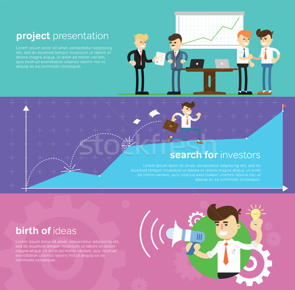 Start up business concept design Stock photo © studioworkstock