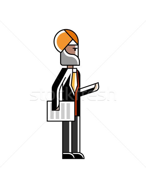 Indian zakenman permanente document business pak Stockfoto © studioworkstock