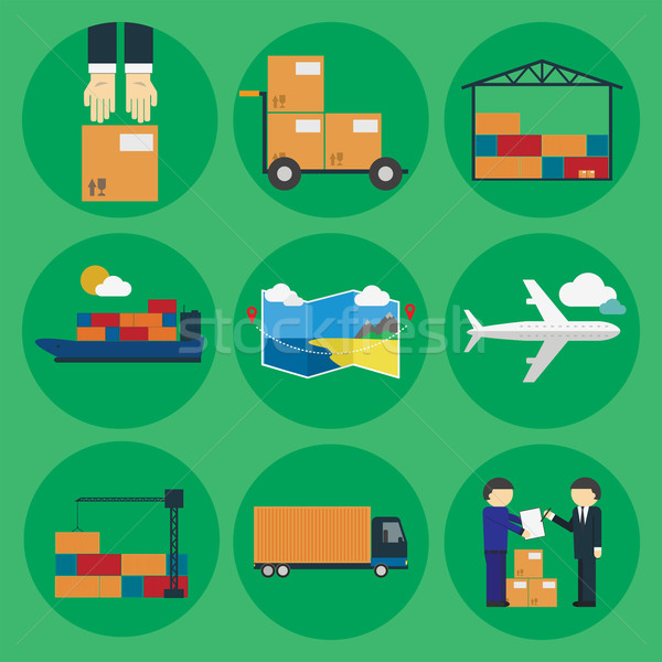 Logistic icon set for Web or Mobile aplication Stock photo © studioworkstock