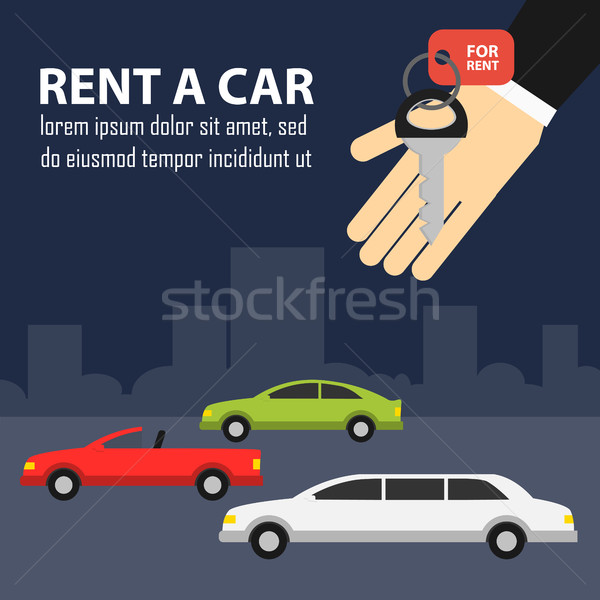 Rental car banners. Stock photo © studioworkstock