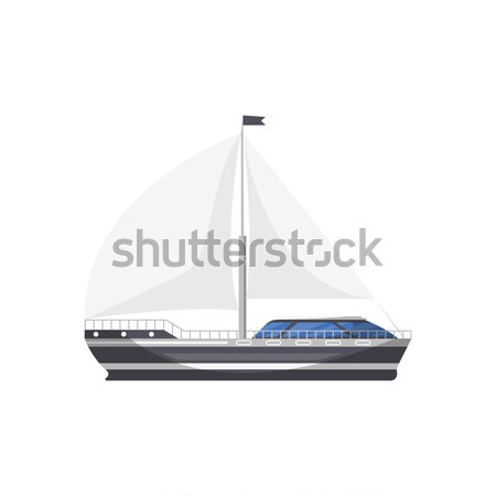 Cruise ship isolated on white icon Stock photo © studioworkstock