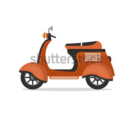 Courier with food boxes on scooter Stock photo © studioworkstock