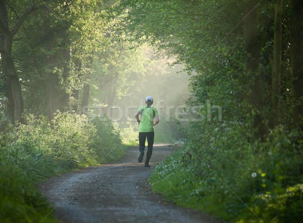 Idősebb nő fut távolság képzés fut Stock fotó © suerob