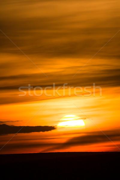 Naplemente felhők nap narancs égbolt természet Stock fotó © suerob