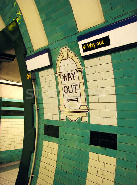 Way Out London Tube Stock photo © suerob