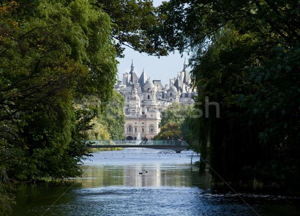 Parc vue eau bâtiments château vacances Photo stock © suerob