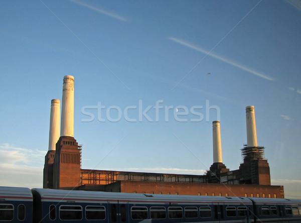 Centrale électrique repère banque rivière thames Photo stock © suerob