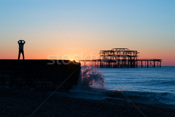 Tai Chi and Brighton Dawn Stock photo © suerob