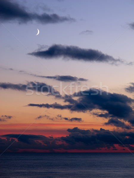 Moon Over Sea Stock photo © suerob