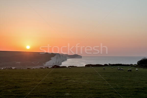 Sunrise over Seven Sisters Stock photo © suerob